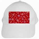 Floral pattern White Cap Front