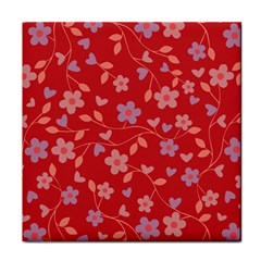 Floral pattern Tile Coasters