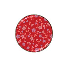 Floral pattern Hat Clip Ball Marker (10 pack)