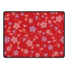 Floral pattern Double Sided Fleece Blanket (Small)