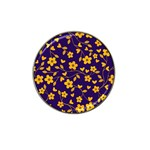 Floral pattern Hat Clip Ball Marker Front