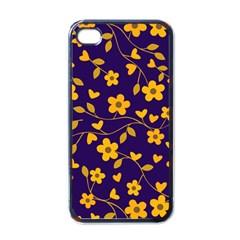 Floral pattern Apple iPhone 4 Case (Black)