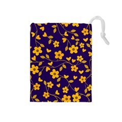 Floral pattern Drawstring Pouches (Medium)