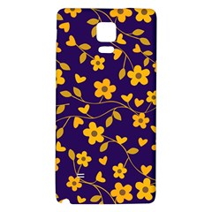 Floral pattern Galaxy Note 4 Back Case