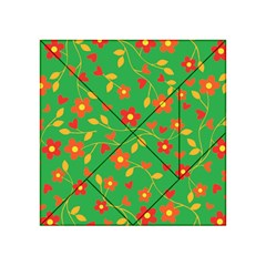 Floral pattern Acrylic Tangram Puzzle (4  x 4 )