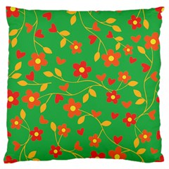 Floral pattern Large Cushion Case (Two Sides)