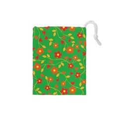 Floral pattern Drawstring Pouches (Small)