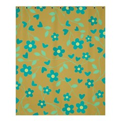 Floral Pattern Shower Curtain 60  X 72  (medium)