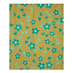 Floral pattern Shower Curtain 60  x 72  (Medium)  54.25 x65.71 Curtain