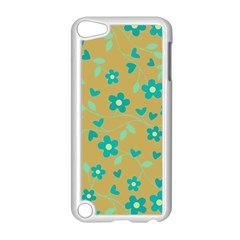 Floral pattern Apple iPod Touch 5 Case (White)