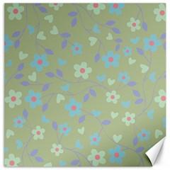 Floral pattern Canvas 16  x 16