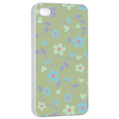 Floral pattern Apple iPhone 4/4s Seamless Case (White)
