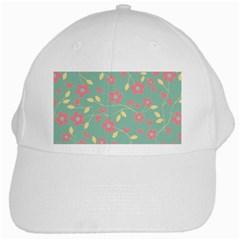 Floral pattern White Cap
