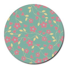 Floral pattern Round Mousepads