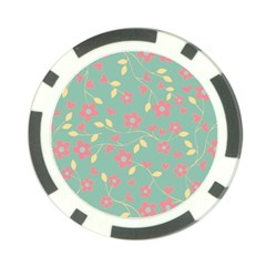 Floral pattern Poker Chip Card Guard (10 pack)