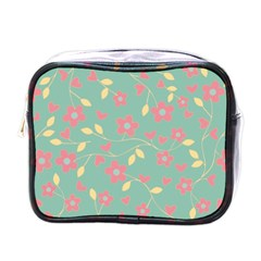 Floral pattern Mini Toiletries Bags