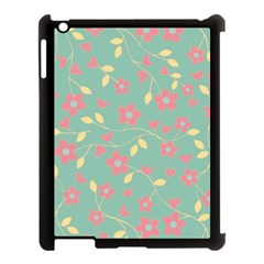 Floral pattern Apple iPad 3/4 Case (Black)