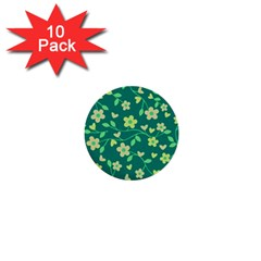 Floral pattern 1  Mini Buttons (10 pack)