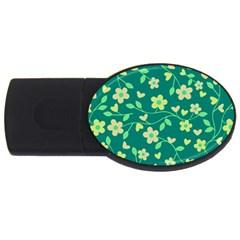Floral pattern USB Flash Drive Oval (1 GB)