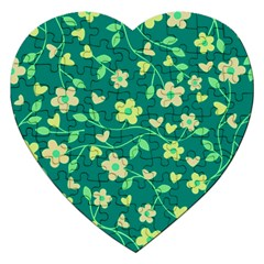 Floral pattern Jigsaw Puzzle (Heart)