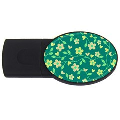 Floral pattern USB Flash Drive Oval (4 GB)