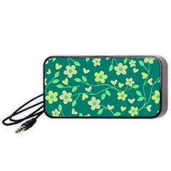 Floral pattern Portable Speaker (Black)