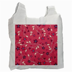 Floral pattern Recycle Bag (One Side)