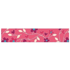 Floral pattern Flano Scarf (Small)