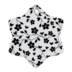 Floral pattern Snowflake Ornament (Two Sides)