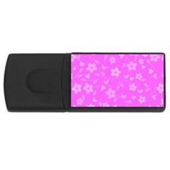 Floral pattern USB Flash Drive Rectangular (2 GB)