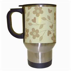 Floral pattern Travel Mugs (White)