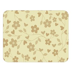 Floral pattern Double Sided Flano Blanket (Large)