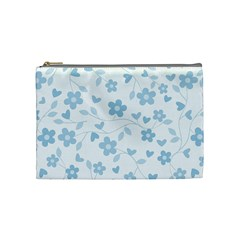Floral pattern Cosmetic Bag (Medium)