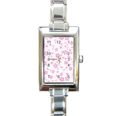 Floral pattern Rectangle Italian Charm Watch