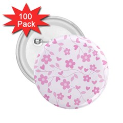 Floral pattern 2.25  Buttons (100 pack)