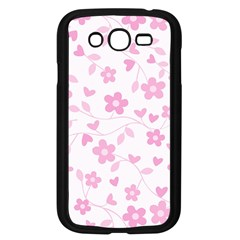 Floral pattern Samsung Galaxy Grand DUOS I9082 Case (Black)