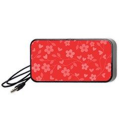 Floral pattern Portable Speaker (Black)