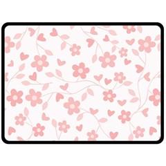 Floral pattern Double Sided Fleece Blanket (Large)