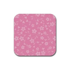 Floral pattern Rubber Coaster (Square)