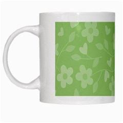 Floral pattern White Mugs
