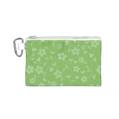 Floral pattern Canvas Cosmetic Bag (S)