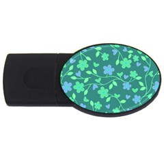 Floral pattern USB Flash Drive Oval (2 GB)