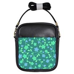 Floral pattern Girls Sling Bags