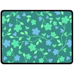 Floral pattern Fleece Blanket (Large)