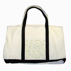 Floral pattern Two Tone Tote Bag