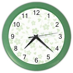 Floral pattern Color Wall Clocks