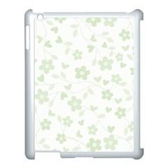 Floral pattern Apple iPad 3/4 Case (White)