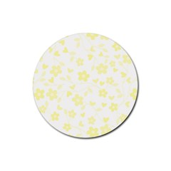Floral pattern Rubber Coaster (Round)