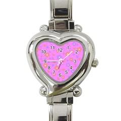 Floral pattern Heart Italian Charm Watch
