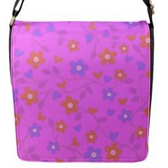Floral pattern Flap Messenger Bag (S)